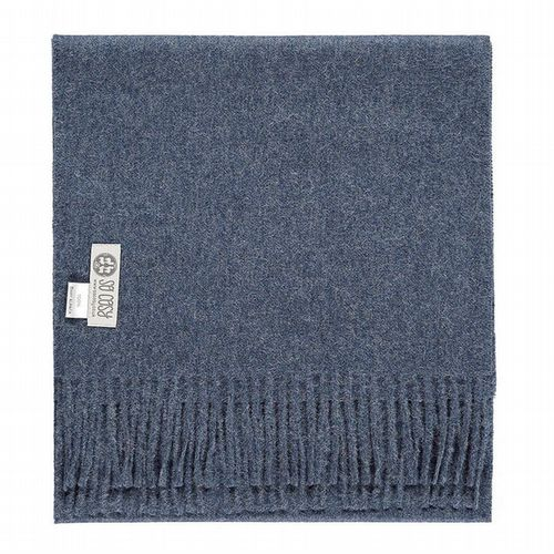 Baby Alpaca Wool - Scarf - Denim Blue